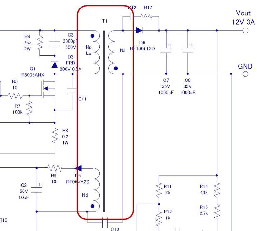 Designing Isolated Flyback Converter Circuits Transformer Design Calculating Numerical Values Basic Knowledge Rohm Tech Web Technical Information Site Of Power Supply Design